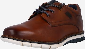 bugatti Δετό παπούτσι σε καφέ
