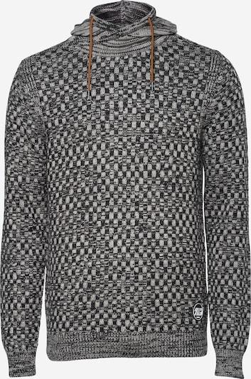 Petrol Industries Pullover in grau / schwarz, Produktansicht