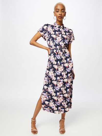 VERO MODA Košilové šaty 'Ines' - námořnická modř / mix barev, Model/ka