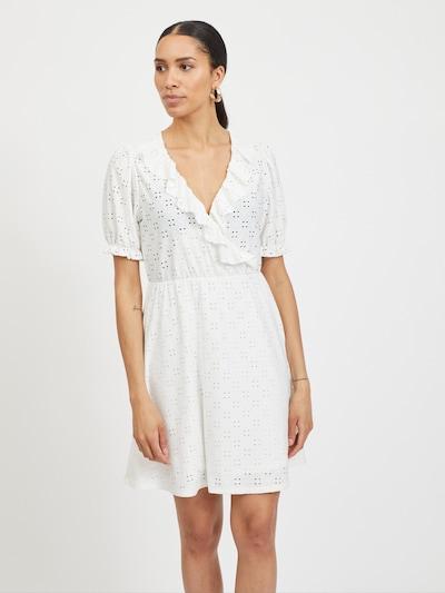 VILA Robe 'VITRESSY' en blanc, Vue avec modèle