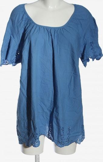 SHEEGO Kurzarm-Bluse in 5XL in blau, Produktansicht