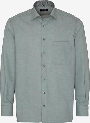 ETERNA Langarm Hemd in Grün