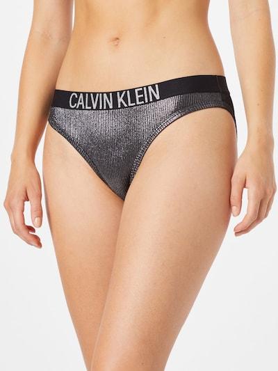 Calvin Klein Swimwear Braga de bikini en negro / plata, Vista del modelo