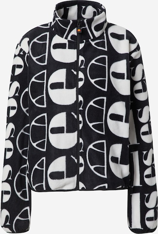 About You x Ellesse Between-Season Jacket 'Suzios Oversized Fleece Jacket' in Black