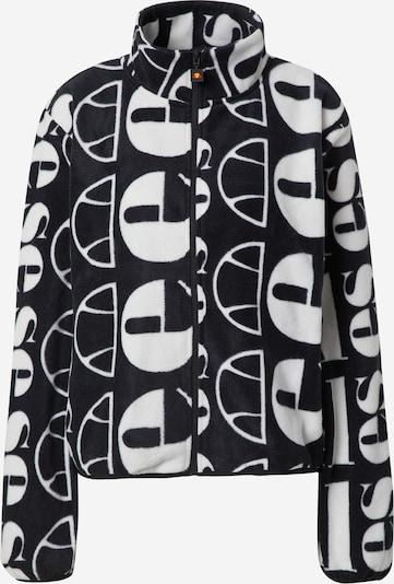 About You x Ellesse Starpsezonu jaka 'Suzios Oversized Fleece Jacket', krāsa - melns / balts, Preces skats