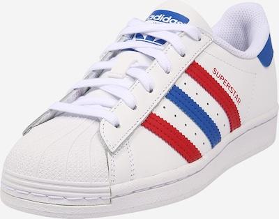 ADIDAS ORIGINALS Sneaker 'Superstar' in blau / rot / weiß, Produktansicht
