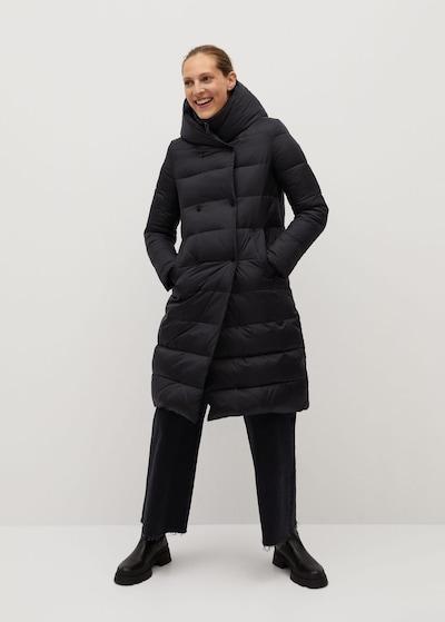 MANGO Mantel 'Oslo' in schwarz, Modelansicht