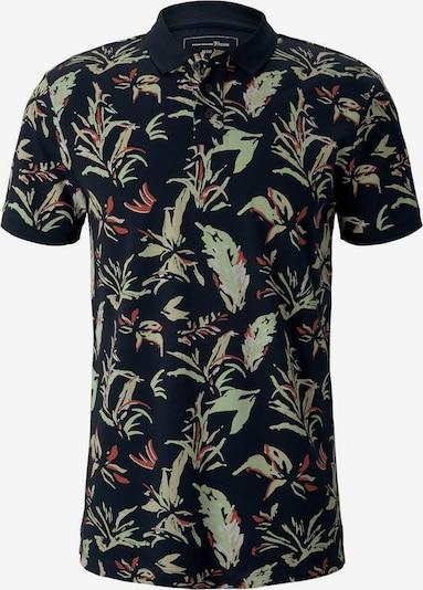 TOM TAILOR DENIM Poloshirt in grün / rot / schwarz, Produktansicht
