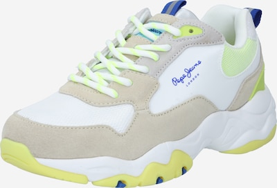 Sneaker low 'SLOANE RYTHM' Pepe Jeans pe bej / ecru / limon / alb, Vizualizare produs