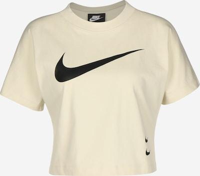 Nike Sportswear T-Shirt 'Swoosh' in beige / schwarz, Produktansicht