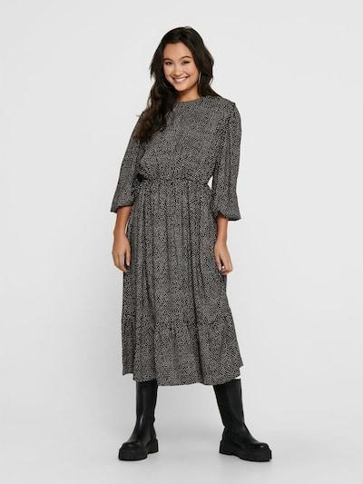 ONLY Wadenlanges Kleid in schwarz, Modelansicht