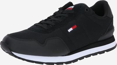 Tommy Jeans Låg sneaker 'Runner' i ljusröd / svart / vit, Produktvy