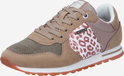 Sneaker low 'VERONA' Pepe Jeans pe bej închis / roz pitaya / roz pal / alb, Vizualizare produs