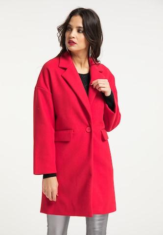 faina Between-Seasons Coat in Red