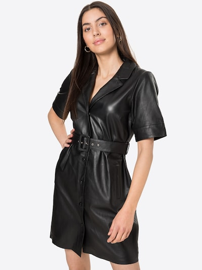 OBJECT Košeľové šaty 'ZARIA' - čierna, Model/-ka