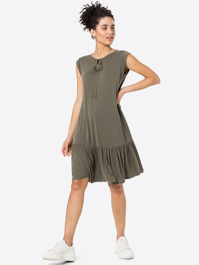 Cartoon Casual-Kleid knielang in khaki, Modelansicht
