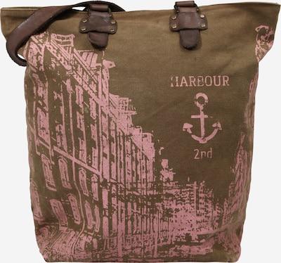 Harbour 2nd Shopper 'Pauli' in khaki / rosa, Produktansicht