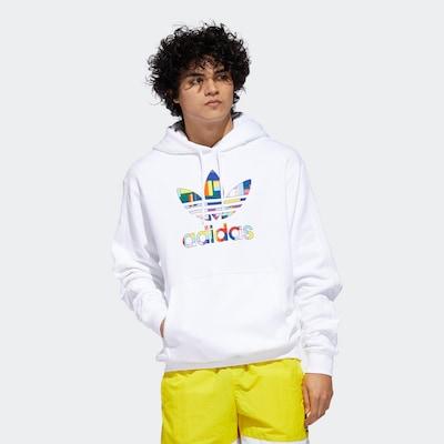 ADIDAS ORIGINALS Hoodie in weiß, Modelansicht