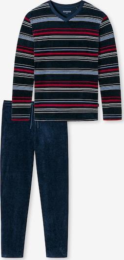 SCHIESSER Schlafanzug lang ' aus der SCHIESSER-Serie Fashion Nightwear ' in nachtblau / mischfarben / dunkelrot, Produktansicht