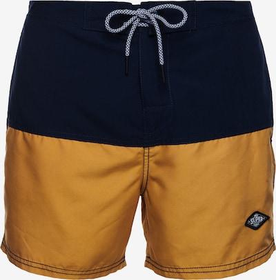Superdry Boardshorts in de kleur Marine / Curry, Productweergave