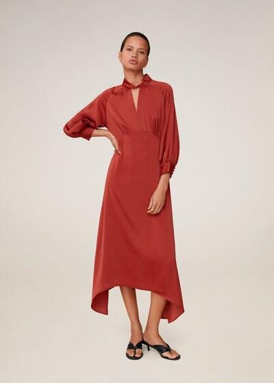 MANGO Kleid in orangerot, Modelansicht
