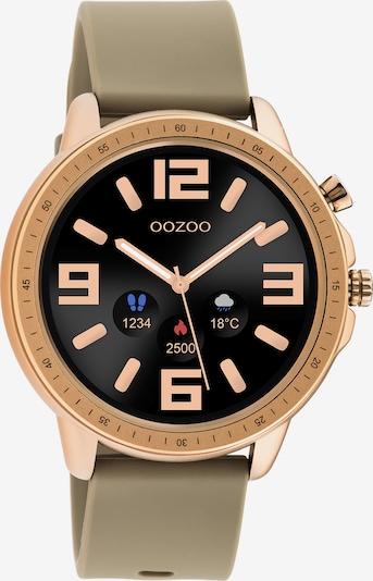 OOZOO Smartwatch in dunkelbeige / gold, Produktansicht