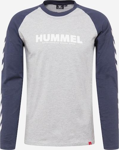 Hummel Sportshirt in nachtblau / graumeliert / rot / weiß, Produktansicht