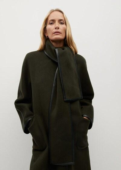 MANGO Mantel 'Praline' in khaki, Modelansicht