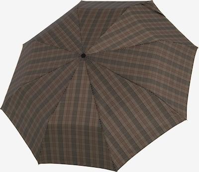 Doppler Manufaktur Regenschrim 'Orion' in schoko / dunkelbraun / taupe, Produktansicht