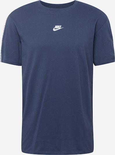 Nike Sportswear Shirt 'REPEAT' in de kleur Donkerblauw / Wit, Productweergave