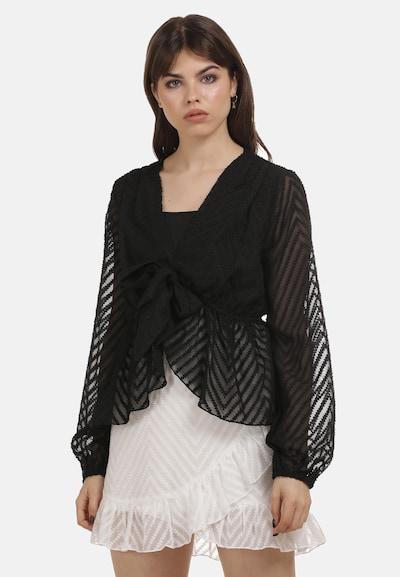 myMo ROCKS Blouse in de kleur Zwart, Modelweergave
