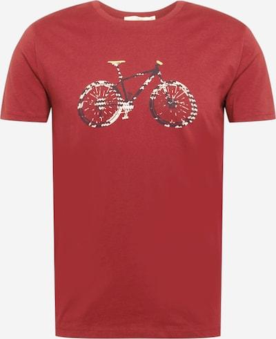 GREENBOMB Shirt 'Bike' in pastellrot / schwarz / weiß, Produktansicht