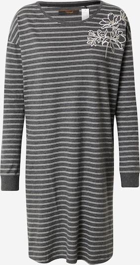TRIUMPH Chemise de nuit en gris foncé / blanc, Vue avec produit