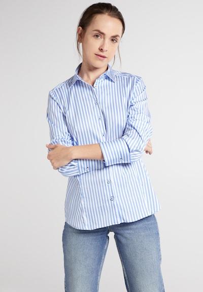 ETERNA Bluse in blau / weiß, Modelansicht