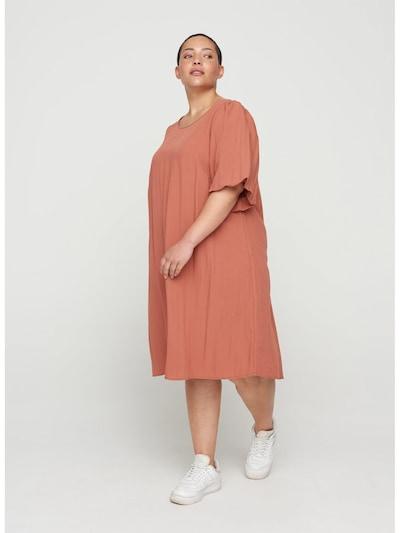 Zizzi Kleid 'Vmacy' in rostbraun, Modelansicht