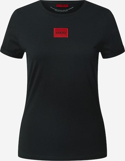 HUGO T-shirt en noir, Vue avec produit