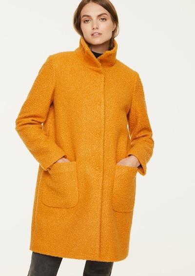 Ci comma casual identity O-Shape-Mantel mit Stehkragen in goldgelb, Modelansicht