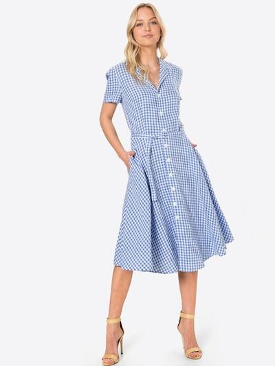 POLO RALPH LAUREN Robe-chemise en bleu / blanc, Vue avec modèle