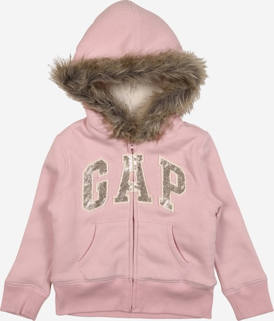 GAP Sweatjacke in braun / pink / silber, Produktansicht