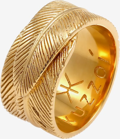 KUZZOI Ring Feder in gold, Produktansicht