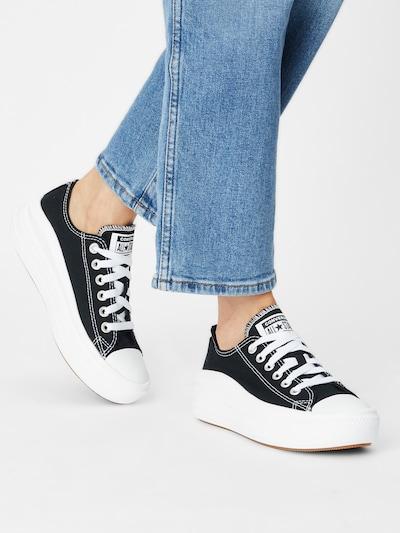 Sneaker low 'Chuck Taylor All Star Move' CONVERSE pe negru / alb: Privire frontală