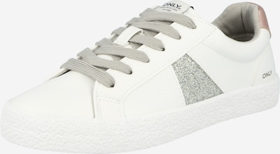 ONLY Sneaker 'SUNNY' in puder / silber / weiß, Produktansicht