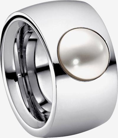 Heideman Ring in de kleur Zilver / Wit, Productweergave