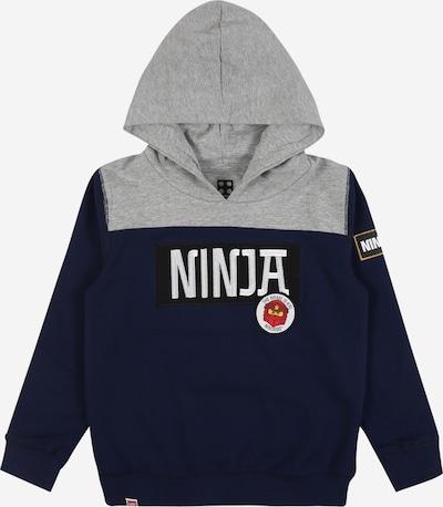 LEGO WEAR Sweatshirt in nachtblau / grau / weiß, Produktansicht