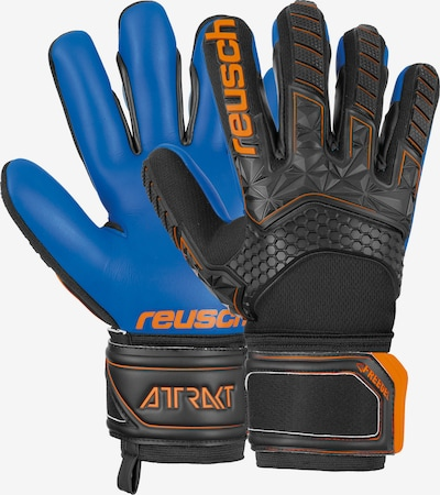 REUSCH Torwarthandschuhe 'Attrakt Freegel S1' in blau / orange / schwarz, Produktansicht