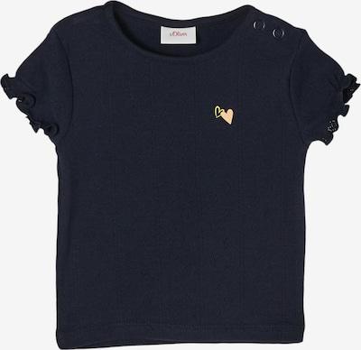 s.Oliver Shirt in de kleur Donkerblauw / Geel, Productweergave