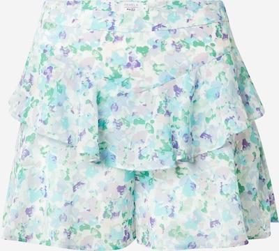 NA-KD Shorts i lyseblå / mint / aubergin / pudder / hvit, Produktvisning
