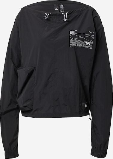 """ADIDAS PERFORMANCE Sportsweatshirt 'X-CITY"""" in schwarz / weiß, Produktansicht"""