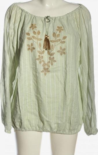 Summum Woman Langarm-Bluse in L in gold / grün / weiß, Produktansicht