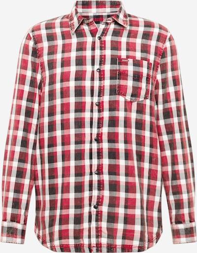 GUESS Hemd in rot / schwarz / weiß, Produktansicht